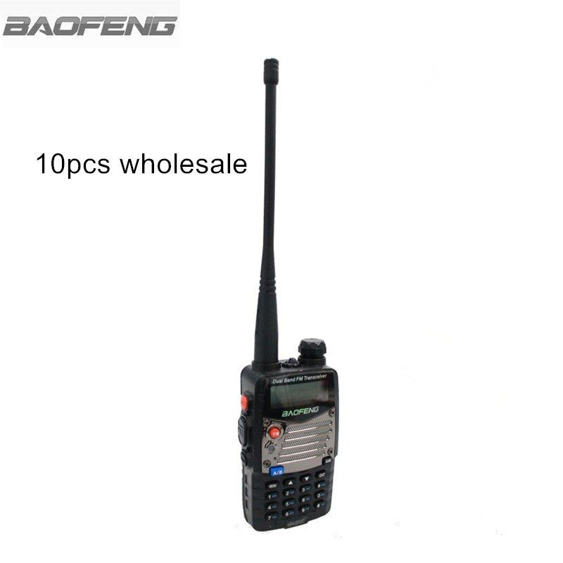 10pcs BaoFeng UV-5RA+ Plus Two Way Radio Metal Black Ham Amateur Walkie Talkie Dual Band VHF UHF 128 Radios