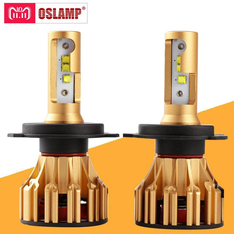 Oslamp T6 Serie H4 H7 H11 9005 9006 LED Car Headlight Bulbs 6500K 70W/Pair Hi-Lo Single Beam <font><b>Automobile</b></font> Headlamp Led lamp 12V