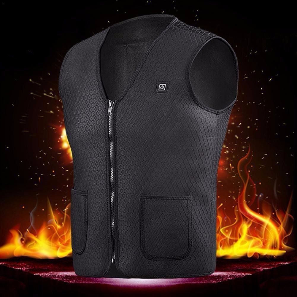 New Usb Heater Hunting Vest Heated Jacket Heating Winter Clothes Men Thermal Outdoor Sleeveless Vest Hiking Climbing Fishing