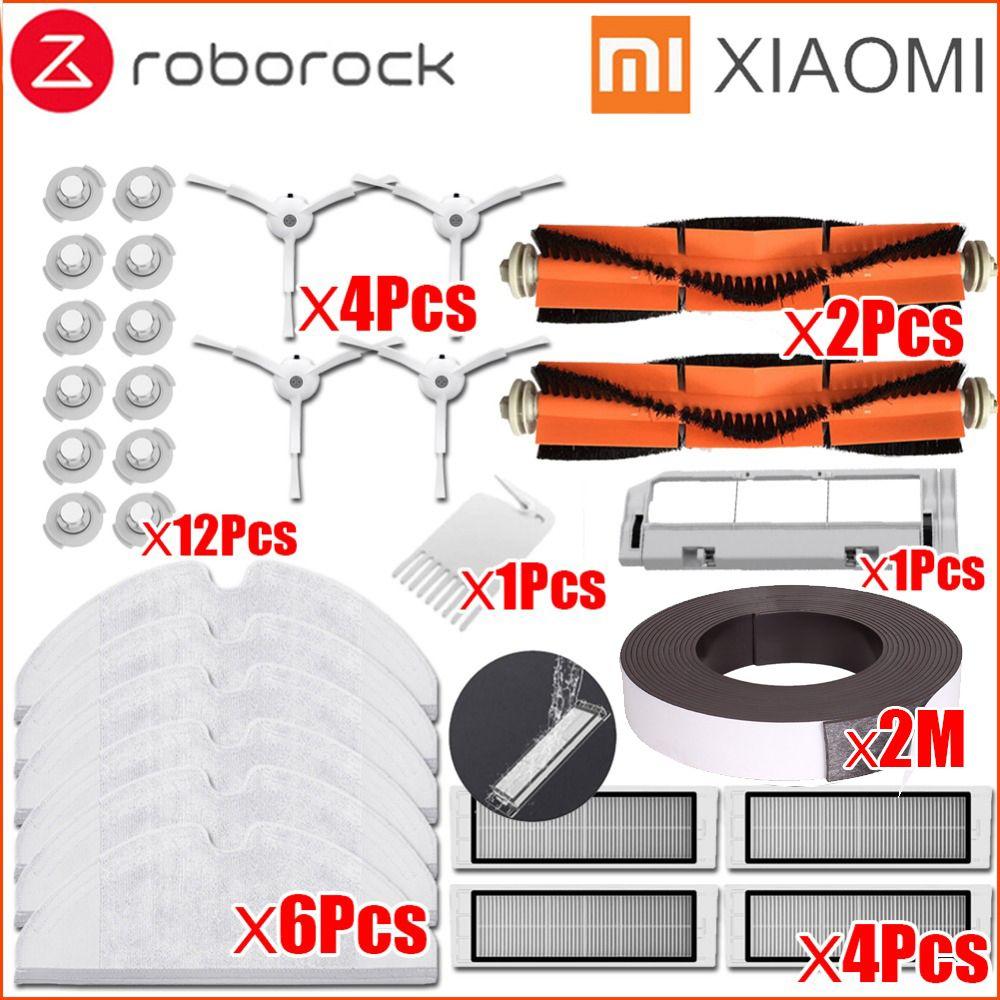 XIAOMI Mi Robot aspirateur pièce Kit roborock S50 S51 brosse latérale filtre HEPA brosse à Main outil de nettoyage serpillière chiffons mur virtuel