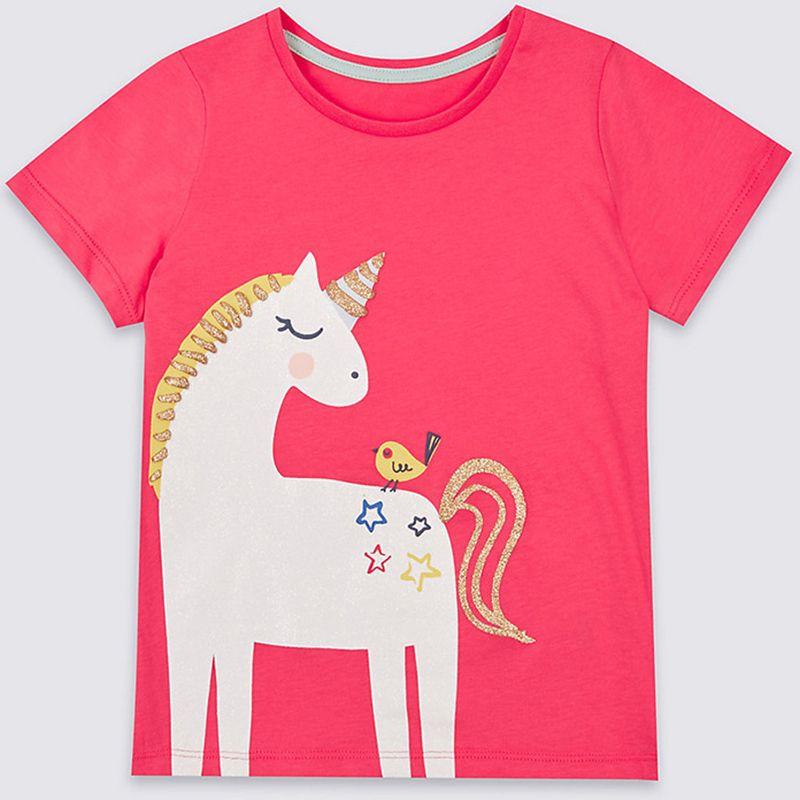 Bear Leader Girls Summer Tops Baby Clothes 2018 Children Cartoon shirts for Girls Costumes Unicorn Summer Gils Tops & Tees