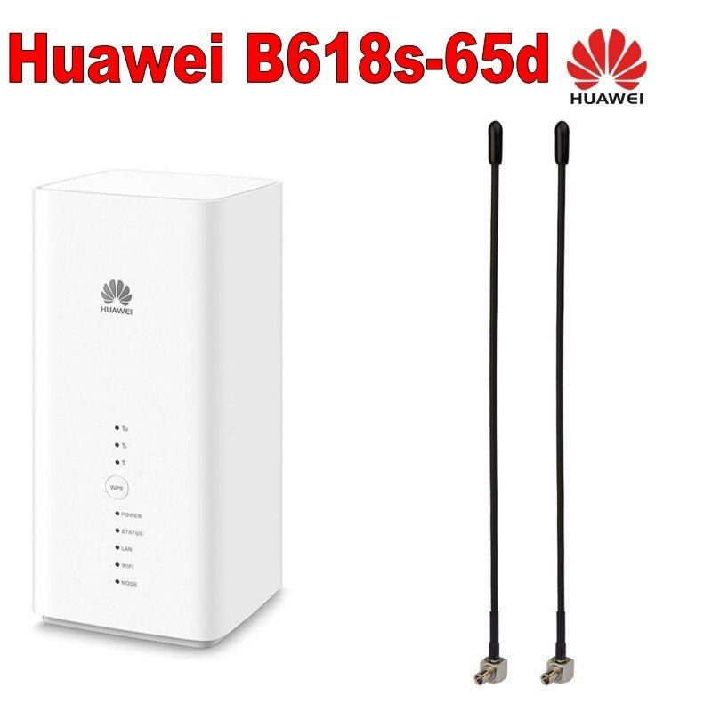 Huawei B618 B618S-65D Cat11 600 Mbps 4G LTE Modem plus mit 2 stücke 4g antenne