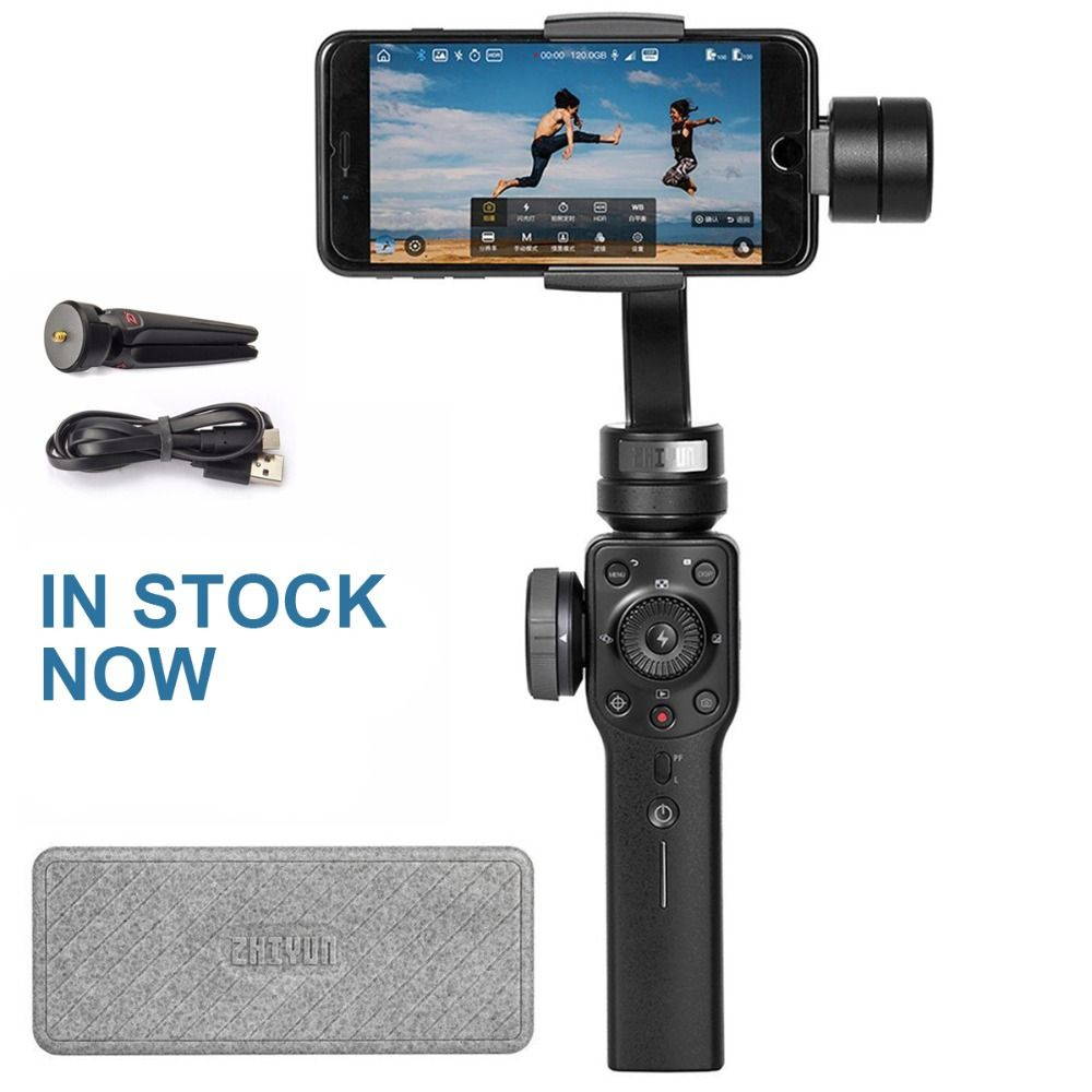 [IN STOCK NOW] Zhiyun Smooth 4 3-Axis Gimbal Stabilizer for Smartphone Up to 210g Focus/Zoom Wheel Two-way Charging