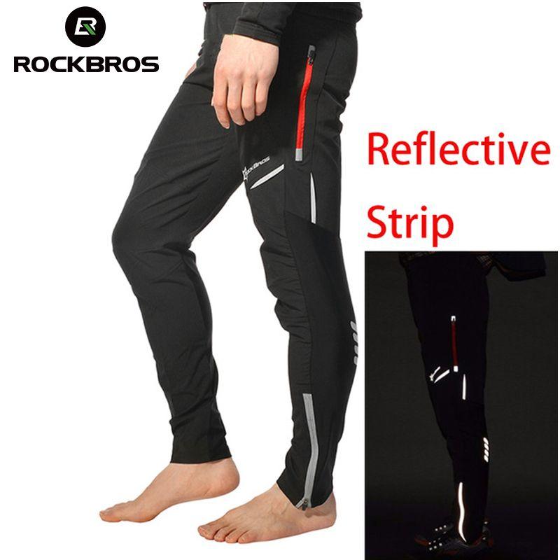 ROCKBROS Cycling Bicycle Sports Pants <font><b>Multifunction</b></font> Sportswear Bike Reflective Tights Cycling Pants Cycle Clothing Long Trousers