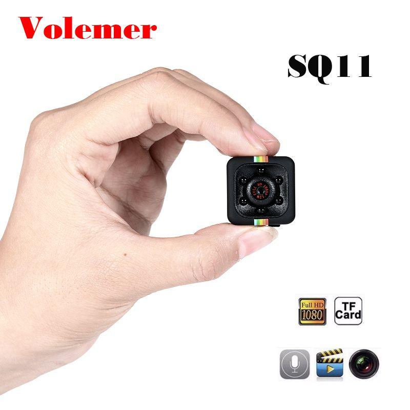 Volemer SQ11 Mini caméra sport HD DV Version nocturne Mini caméra d'action corps caméra caméscope enregistreur vidéo vocal petite caméra