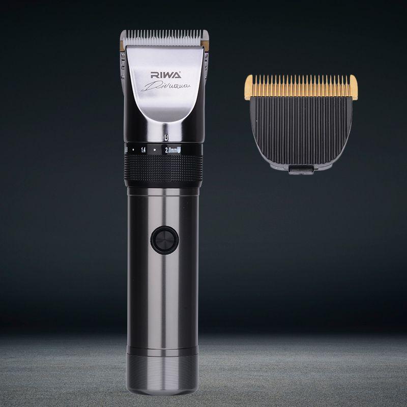 RIWA Quiet Hair Clipper Hair Cutting Machine Professional Hair Trimmers Lithium Battery Titanium Ceramic Blade Hairdresser X9 34
