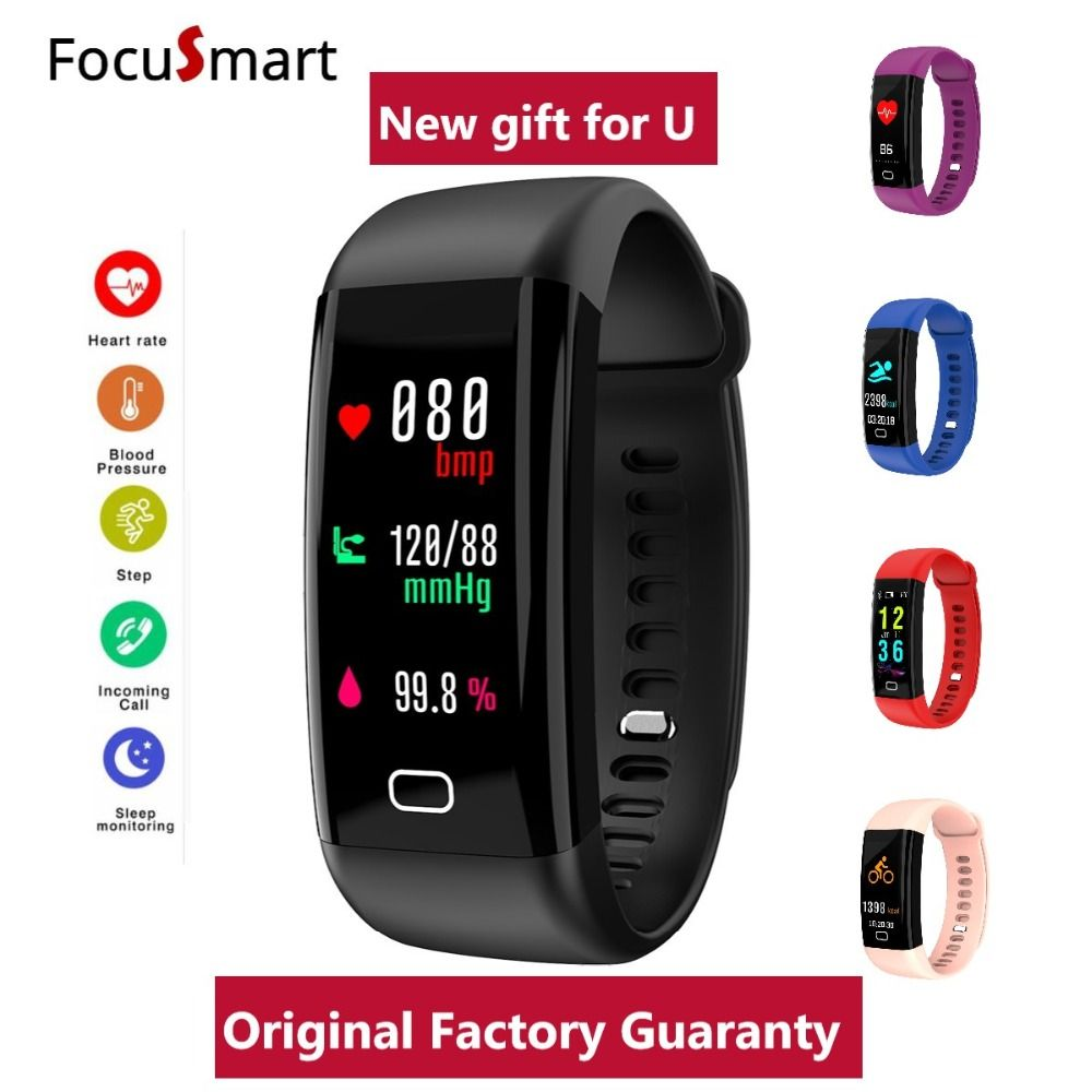 Color Screen Smart Bracelet Waterproof Heart Rate Monitor pulsometer Blood Pressure Fitness Tracker Smart Wristband PK mi band 3