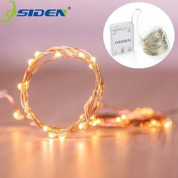 OSIDEN 2 M 5 M 10 M 100 Led Cordes Fil De Cuivre 3XAA Batterie Exploité De Noce de Noël Décoration LED cordes Guirlandes