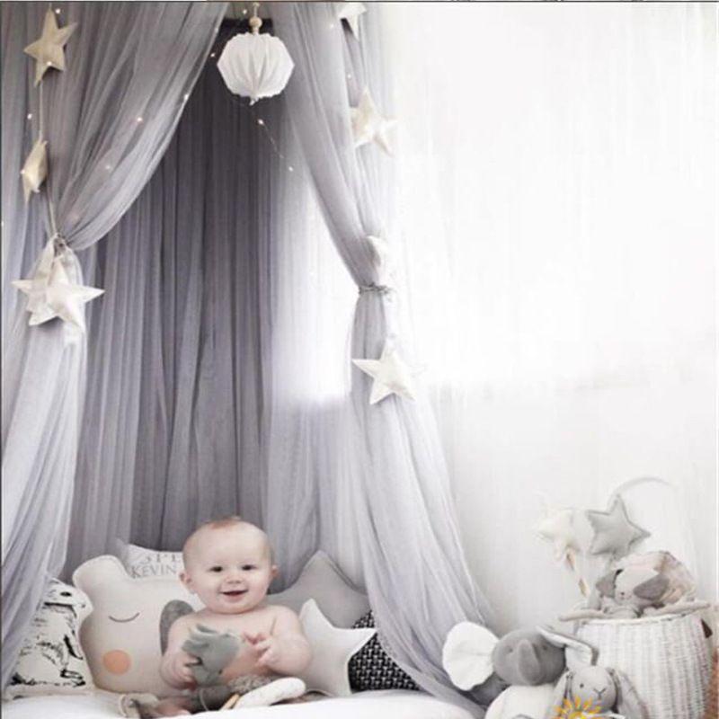 Baumwolle Baby Baldachin Moskito Net Anti Moskito Prinzessin Bett Baldachin Mädchen Zimmer Dekoration Bett Baldachin schädlingsbekämpfung Ablehnen Net