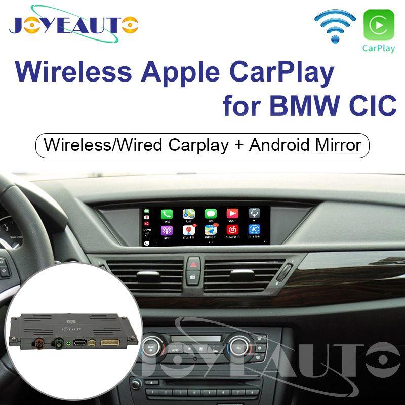Joyeauto WIFI Drahtlose Apple Carplay Auto Spielen mit iOS 13 Retrofit 1 3 5 6 7 serie X1 X3 X5 X6 CIC 8,8 10,25 zoll 09-13 für BMW