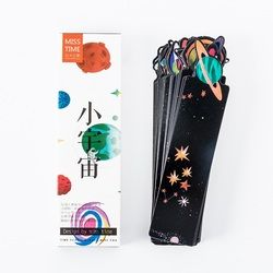 30pcs The little galaxy bookmarks Starry star Space trip bookmark kids gift Stationery Office School supplies marcapaginas A6960