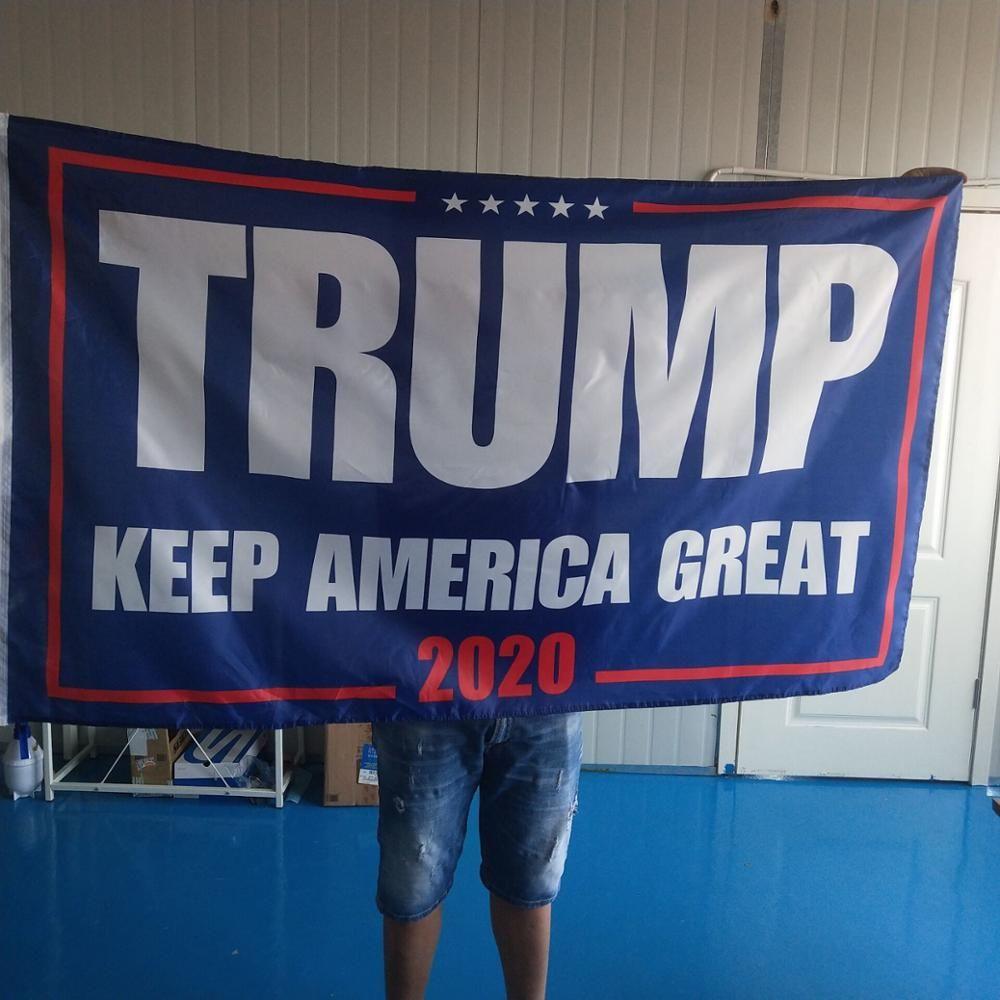 150x90 cm Trump 2020 Flagge Doppel Seiten Gedruckt Donald Trump Flagge Halten Amerika Große Donald für Präsident USA