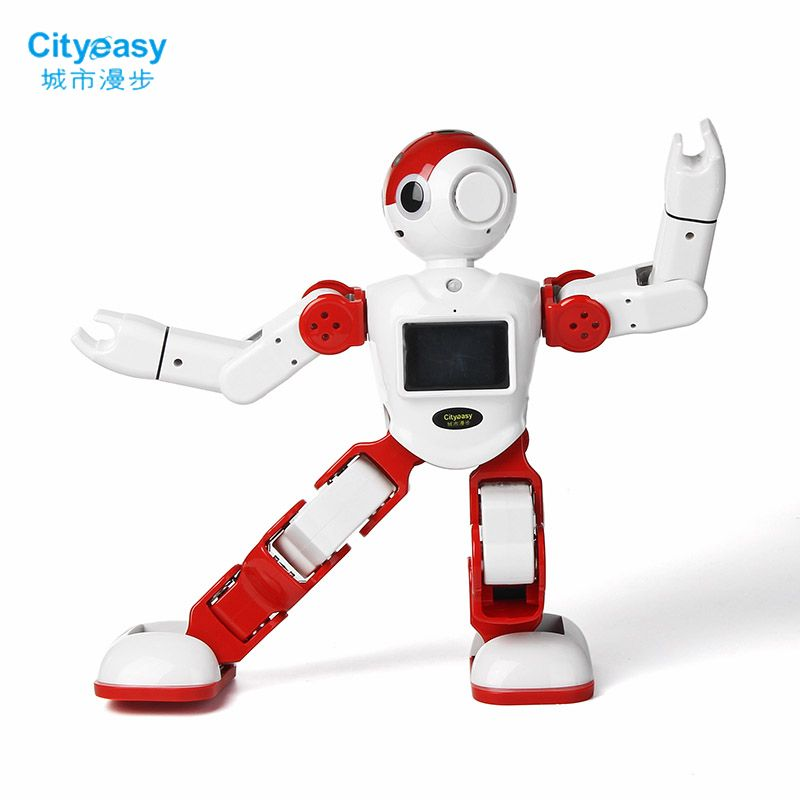 Cityeasy Intelligent Humanoid Robot Voice Control Robot Programming Software APP Control For Security Video Call Child Education