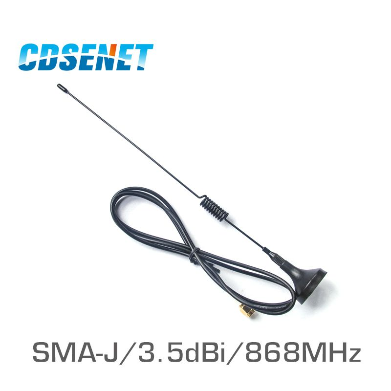 2Pcs/Lot 868MHz High Gain uhf Sucker Antenna CDSENET TX868-XP-100 3.5dbi SMA Male Omnidirection Wifi Antenna for Wireless Module