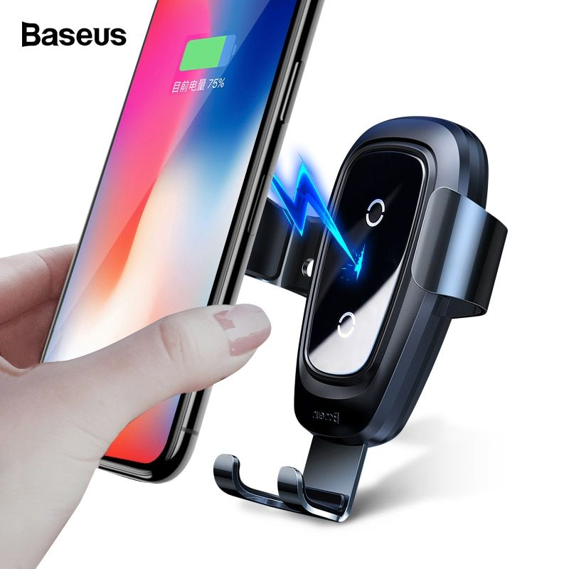 Baseus Sans Fil Chargeur De Voiture Pour iPhone Xs Max X Rapide Wireless Sans Fil De Voiture De Charge Support Pour Xiaomi de mélange 2 s qi Sans Fil Chargeur