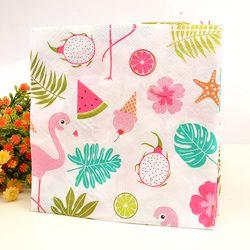 Frais Flamingo Papier Serviette Festive & Party Tissus Serviette Fournir Enfants Party Decoration Papier 33 cm * 33 cm 20 pcs/pack/lot