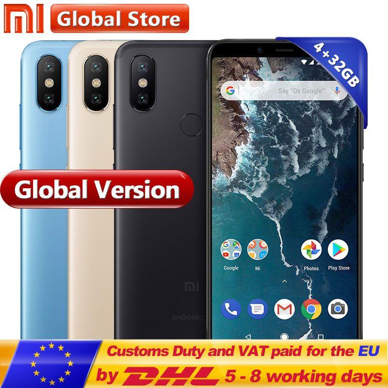 Globale Version Xiao mi mi A2 32 gb Handy 4 gb Snapdragon 660 Octa Core 3010 mah 5,99