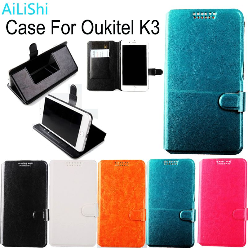 AiLiShi Factory Direct! Case For Oukitel K3 Luxury Dedicated Leather Case New Exclusive 100% Holder Card Slot +Tracking In Stock
