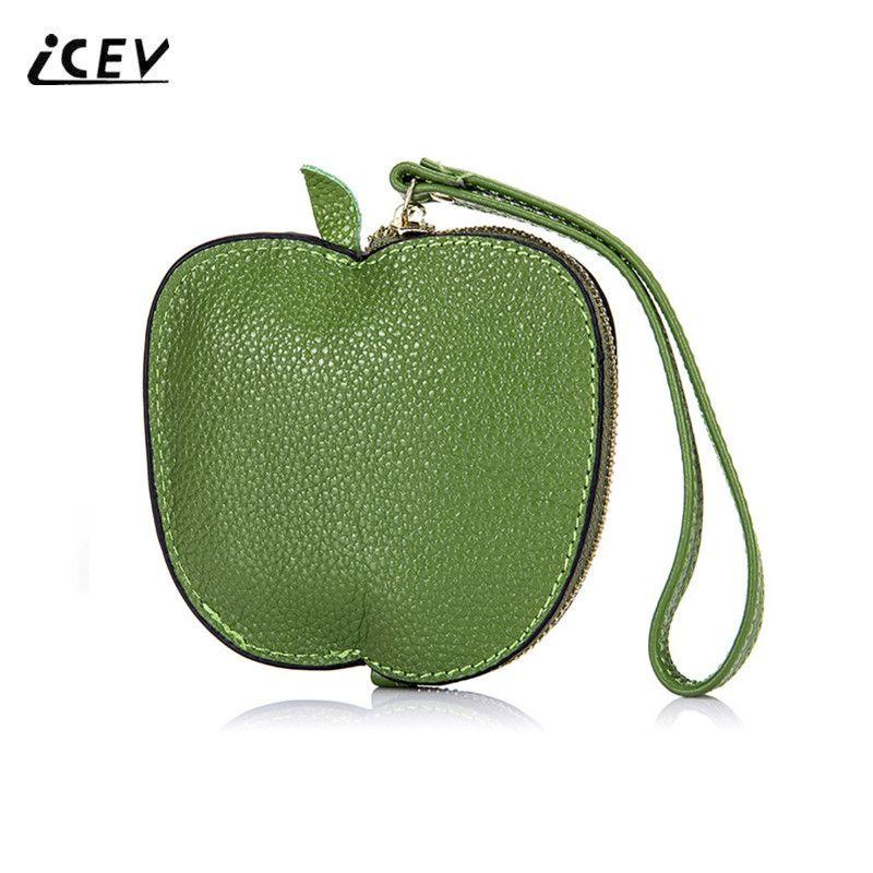 ICEV Neue Mode Niedlich Obst Mädchen Wristlets Echte Lederne Beutel Handtaschen Frauen Berühmte Marken Designer Hochwertige Damen Taschen