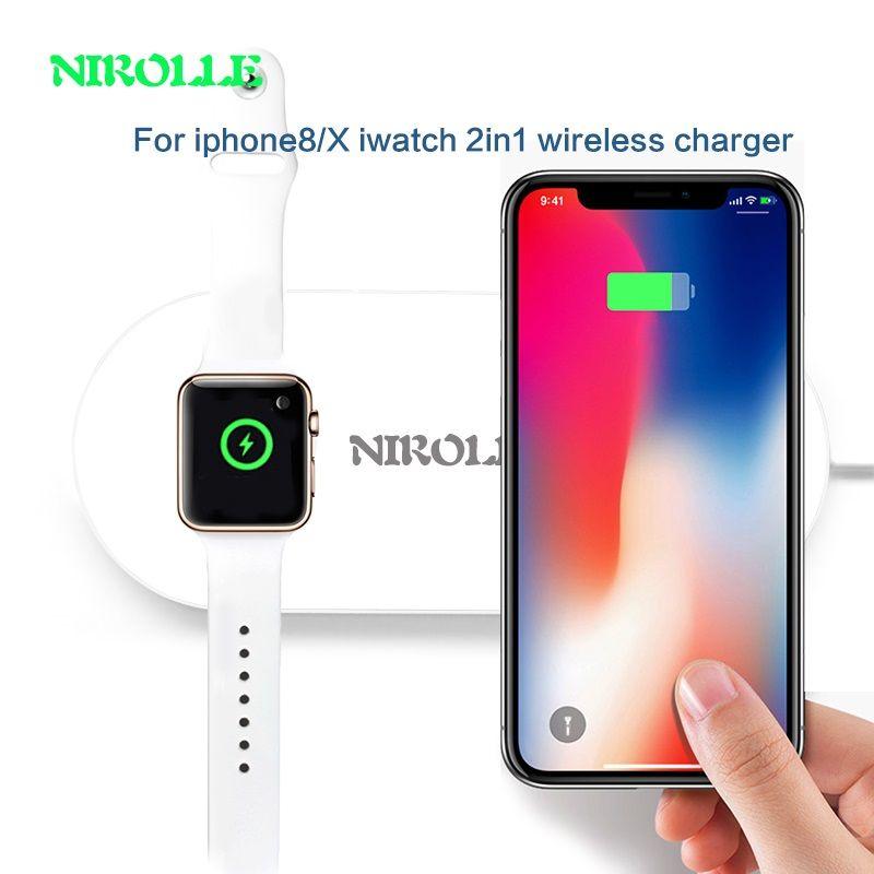 Für Apple Uhr Drahtlose Ladegerät Kabel Schnellladung PowerPort Ultra dünne DockStation Lade Pad Für iPhone X 8 8 Plus AirPower