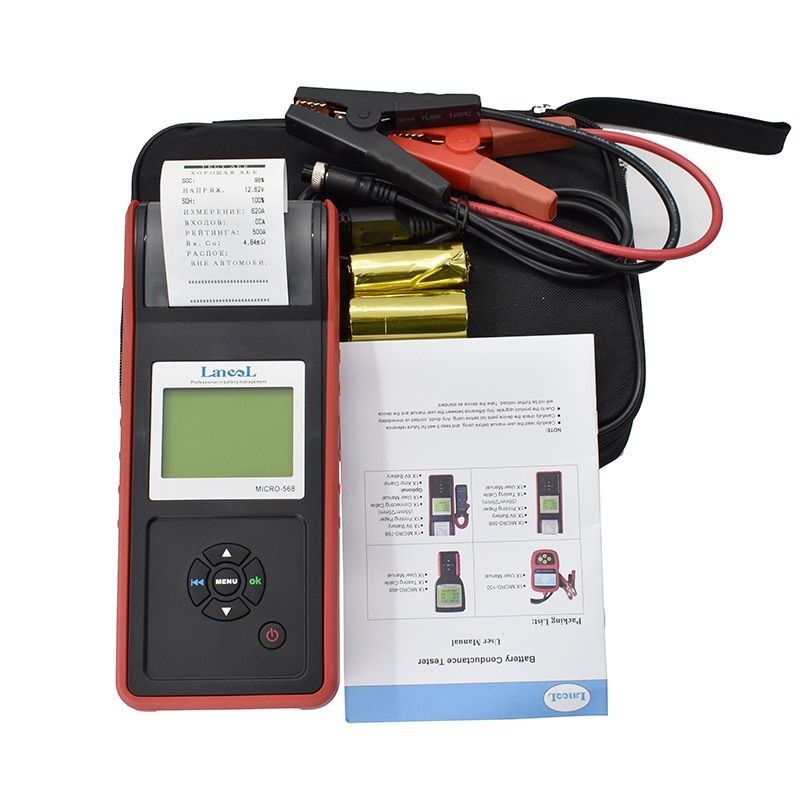 Lancol Fabrik Micro 568 Auto Automotive Batterie Werkzeuge Für Autos Batterie Analyzer Mit Drucker Auto Drucker Batterie Tester Diagnost