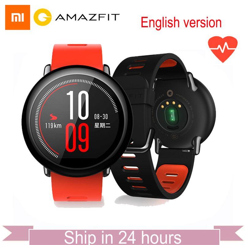 [GLOBAL VERSION]Xiaomi Huami Watch AMAZFIT Pace BLT 4GB Bluetooth GPS Sports Smart Watch Zirconia Ceramics Heart Rate Monitor