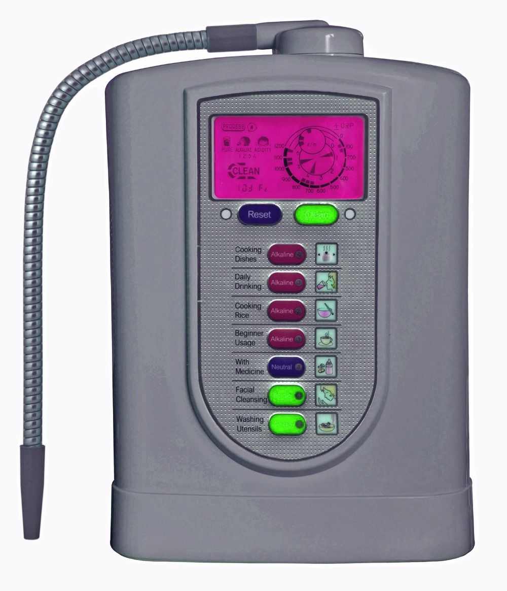 Alkaline water ionizer(Japan Technology,China manufacturer) with NSF certified built-in filter+pH test strip(1box)