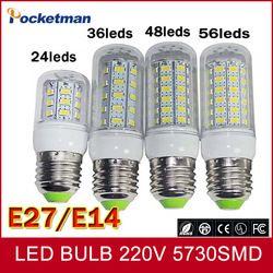 LED Ampoule Lampe E27 E14 110/220 V SMD5730 24/36/48/69 Led Ampoules Lampada LED Diode Lampes À Économie D'énergie Lumière pour La Maison Dropship