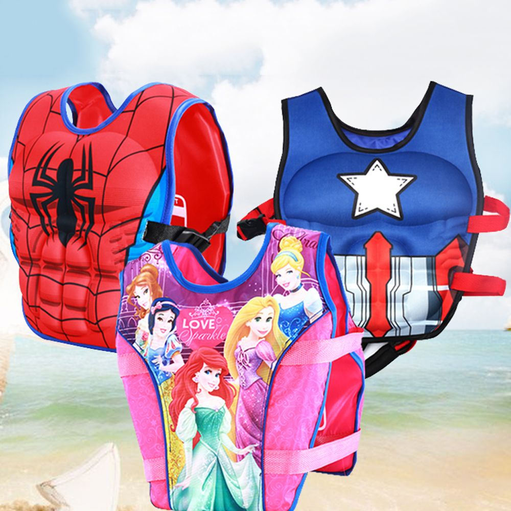 Life Vest Jacket Kids Floating Boy Swimsuit Sunscreen Floating Power swimming pool accessories ring For Drifting Boating