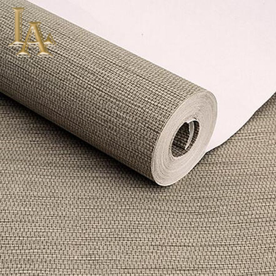 high quality simple modern home wallpaper rolls sofa living room background straw wall paper pattern papel de parede W183