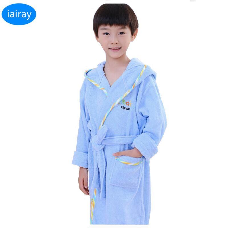 Peignoir pour garçons enfants poncho à capuche serviette rose peignoir pour filles roupao bleu peignoir de bain vert lâche coton pyjamas bébé robes de bain