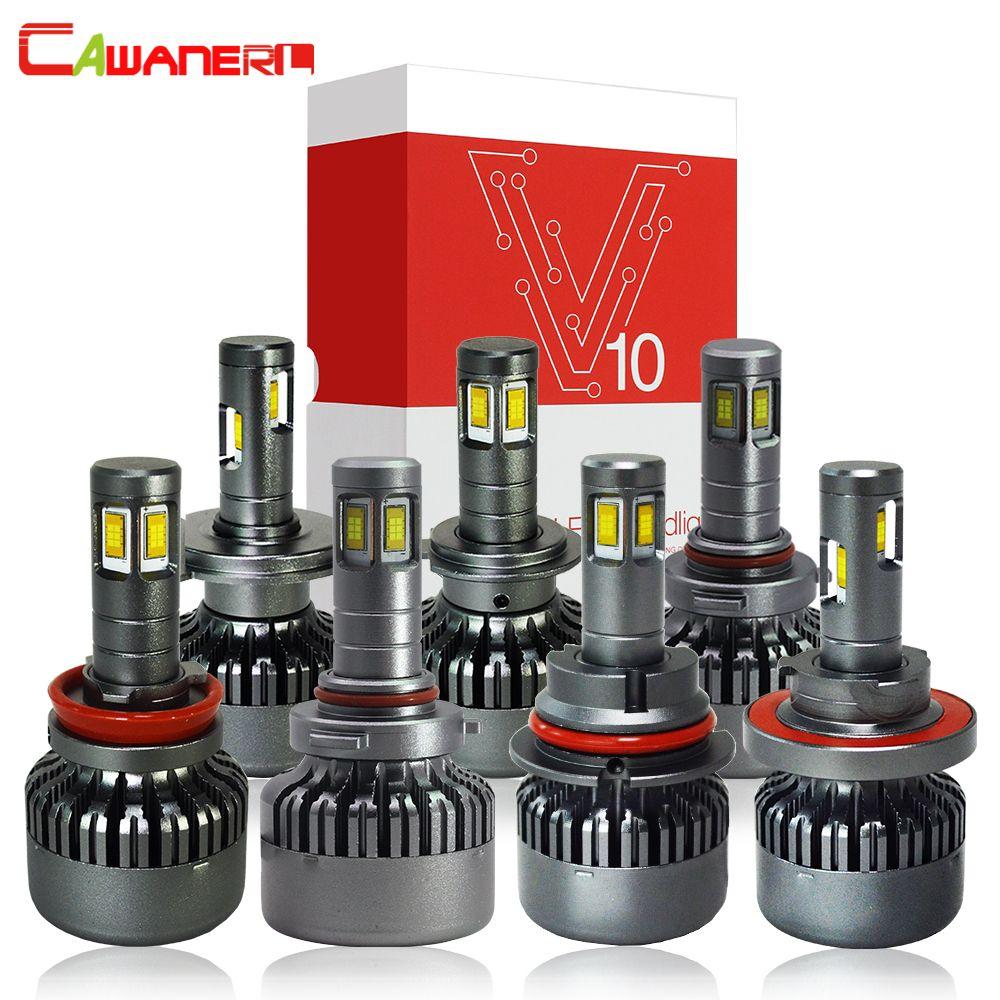 Cawanerl H4 H7 LED Headlight Bulb 100W 10000LM/Set High Bright 6000K 12V H8 H9 H11 9005 HB3 9006 HB4 9007 H13 Car Light Headlamp
