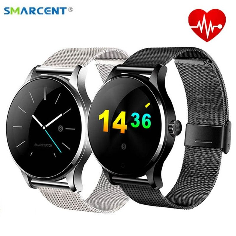 Smarcent K88H Smart Watch Track Wristwatch Bluetooth Heart <font><b>Rate</b></font> Monitor Pedometer Dialing Smartwatch Phone For Android IOS