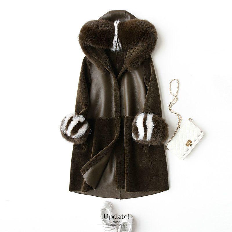 Mouton Mantel weibliche jacke frauen jacke pelz mantel wolle mantel frauen winter jacken echt pelz frauen mäntel winter
