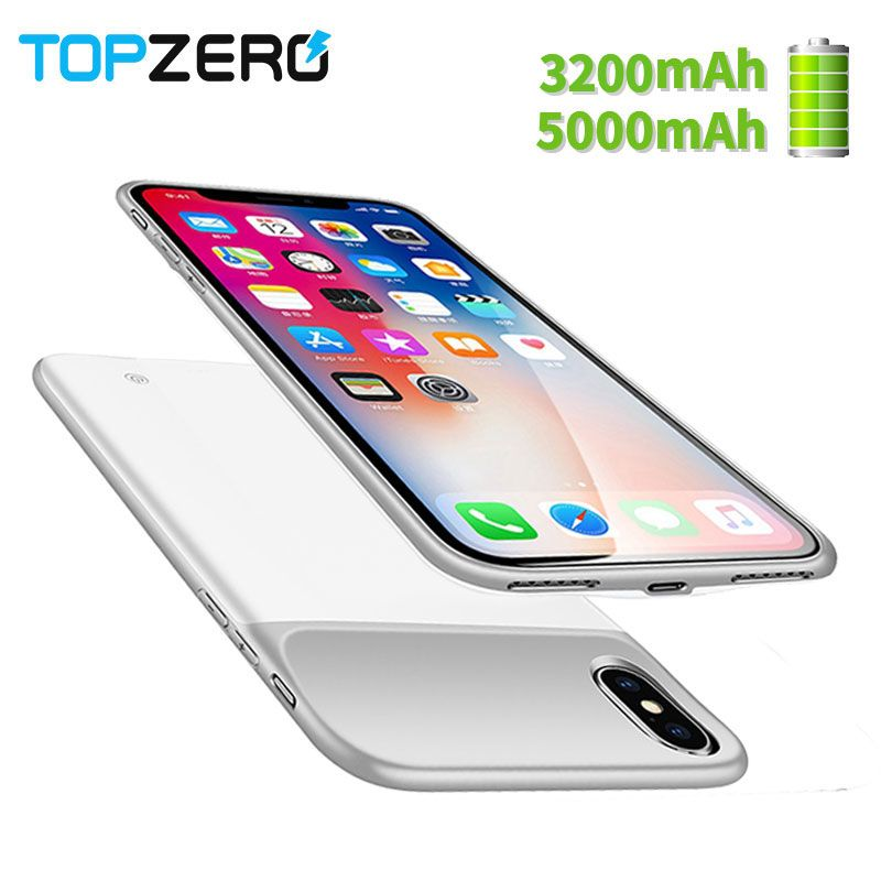 New 3200/5000mAh Portable Soft Silicone Battery Charger Case For iphone X battery Case With magnetic Power Bank Case For iphonex