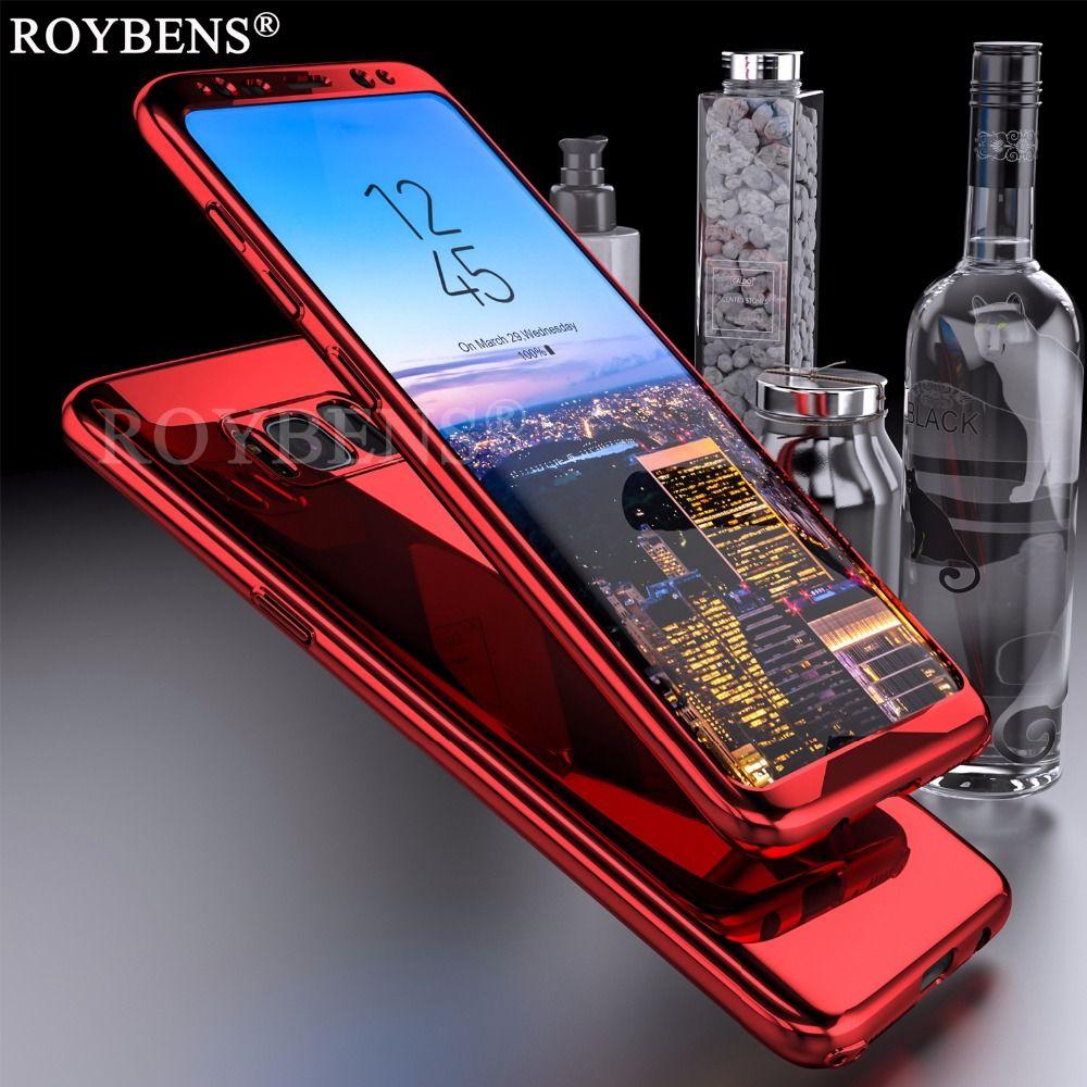 Für Samsung Galaxy S8 Fall Roybens Luxury Ultra Thin Bling Spiegel 360 vollen Schutz Abdeckung Für Galaxy S8 Plus Fall 2 in 1 Rüstung