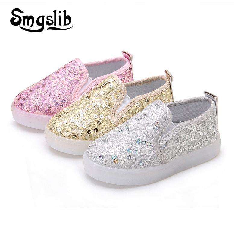 Обувь для девочек туфли принцессы партия нескользящие спортивные дышащие сетчатые Детские кроссовки Блёстки size21-30 дети света обувь