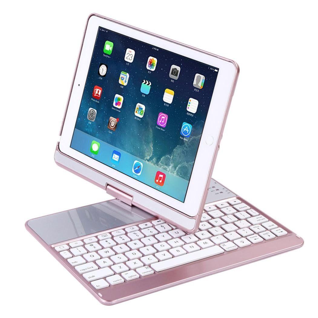 Für iPad 9,7 2017 2018 Tastatur Fall, 360 Grad-umdrehung Wireless Bluetooth Tastatur-kasten für iPad Air 1 2 Fall mit bluetooth