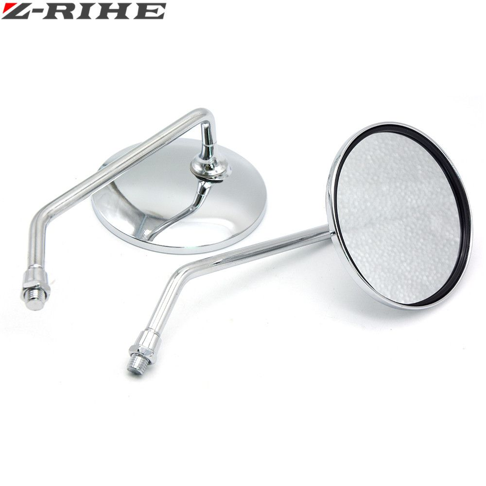 Motorcycle Back View Mirror Electric Bicycle Rearview Mirrors Moped Side Mirror 8mm Round FOR YAMAHA Suzuki kawasaki ducati ktm
