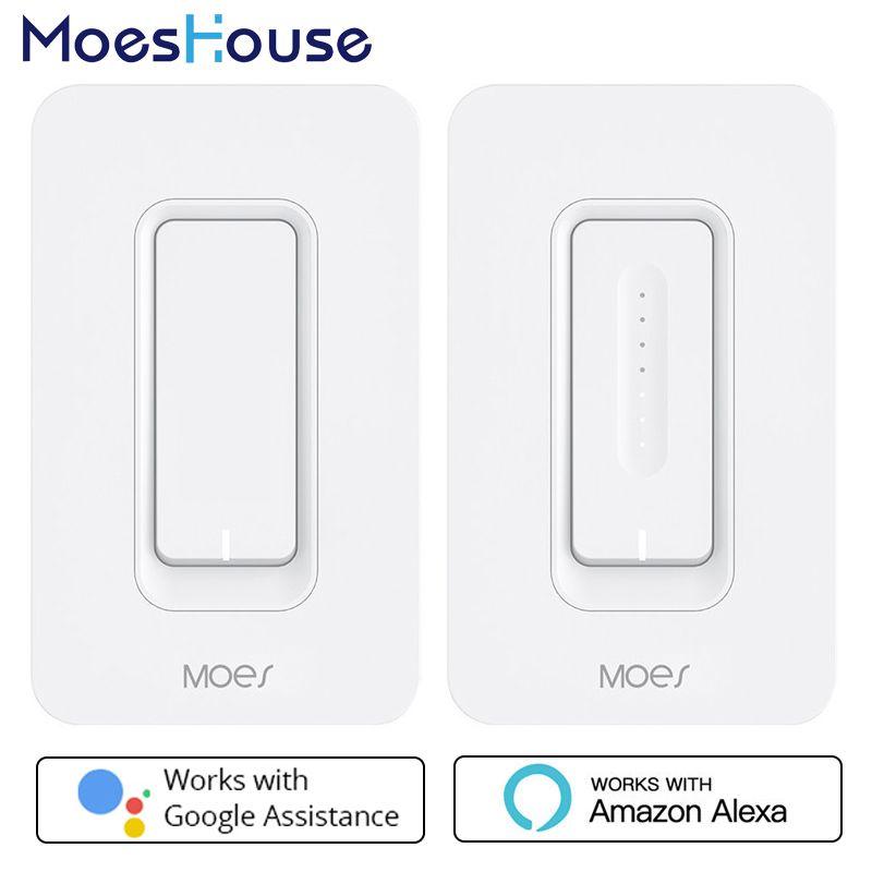 UNS WiFi Smart-Wand Licht Schalter Dimmer Mobile APP Fernbedienung Keine Hub Erforderlich Arbeitet mit Amazon Alexa Google Hause IFTTT