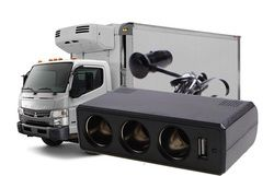 24 v de réduire la tension à 12 v convertisseur camion avec usb, Trois-trou moteur véhicule outlet, 12 v voiture