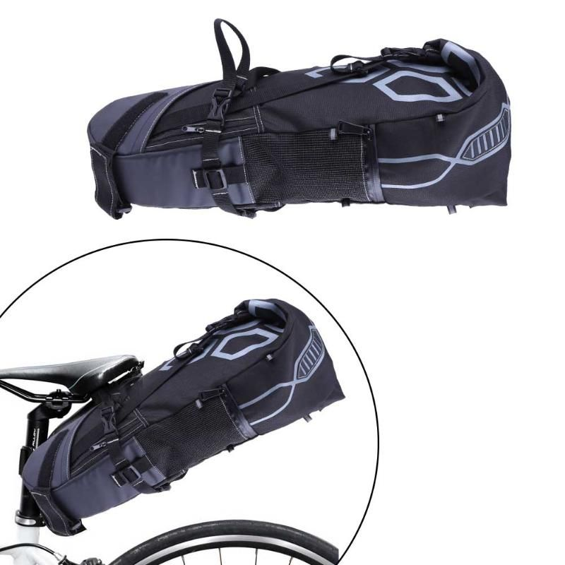 B-SOUL 10L Bike Bag Bicycle Saddle Tail Seat Waterproof Storage Bags Cycling Rear <font><b>Pack</b></font> Painners Accessories 63*28*14cm Freeship