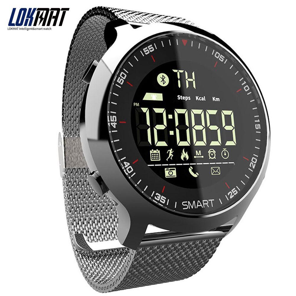 LOKMAT Sport Watch Bluetooth Waterproof Men Smart Watch Digital Ultra-long Standby <font><b>Support</b></font> Call And SMS Reminder SmartWatch