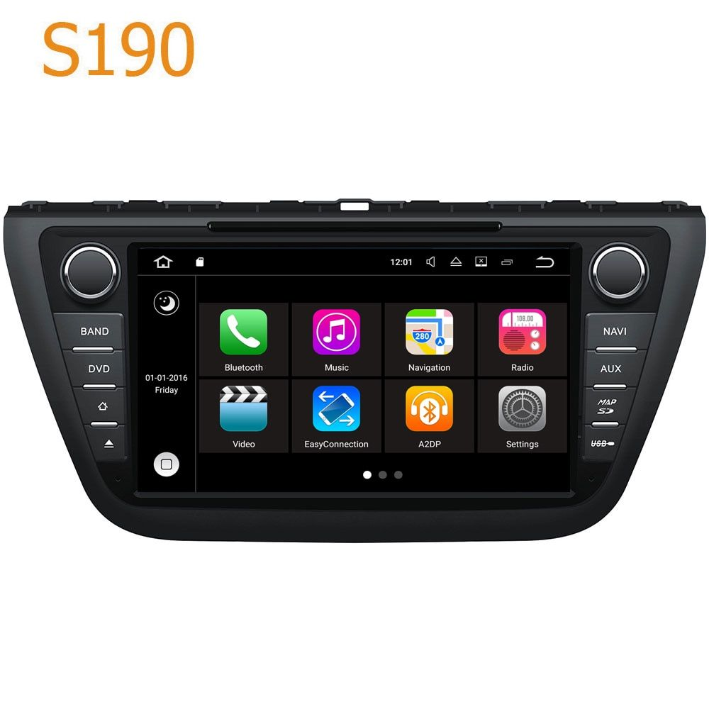 Road Top Winca S190 Android 7.1 System PX3 Car GPS DVD Player Head Unit for Suzuki SX4 S Cross 2013 - 2016 with Radio Navigation