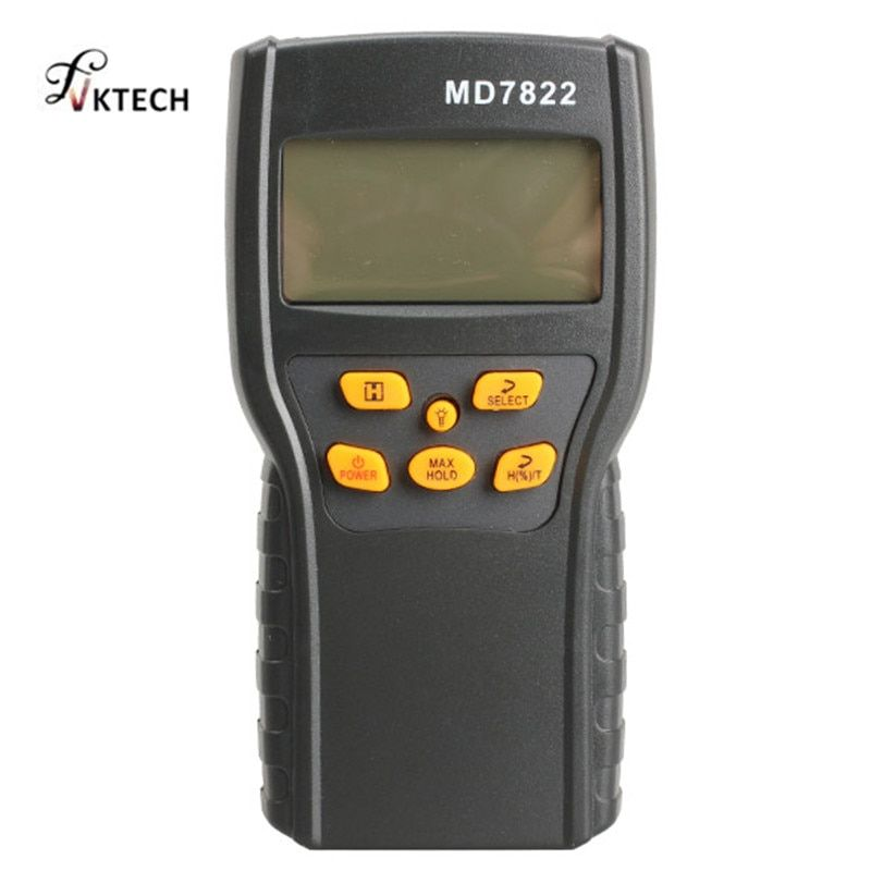 MD7822 Digital Grain Moisture Meter Temperature Meters Tester Measuring Probe Wheat Corn Rice Moisture Test Meter w/ LCD Display