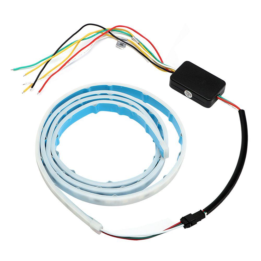 Multi-function Signal Lamp External Lighting Car RGB LED Strip Brake Lamp Rear Trunk Tail Light Car-Styling Turn Signal Light