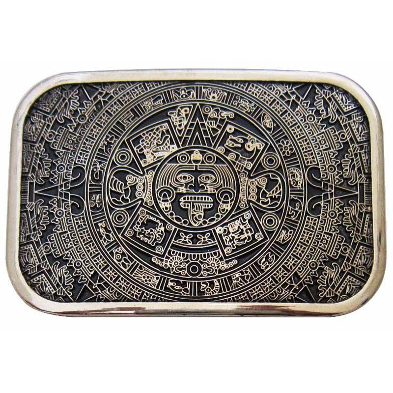 T-DISOM hommes ceinture boucle marque Western aztèque calendrier Maya ceinture boucle pour Jeans costume pour PU ceintures livraison directe