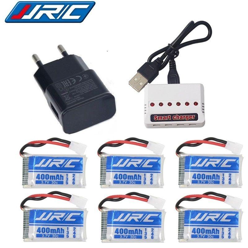 Upgraded version Lipo Battery 3.7v 400mAh 30C for JJRC H31 H43hw Drone Li-Battery JJRC H31 Lipo Battery + 6 in 1 cable charger