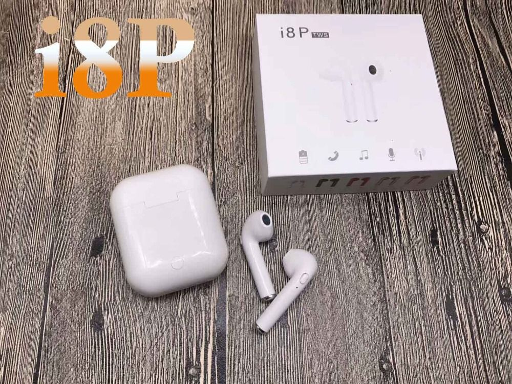i8 i8P TWS Wireless Bluetooth Earbuds Earphone vs i8 i7 for iPhone X Android samsung s7 s8 s9 with Retail Package