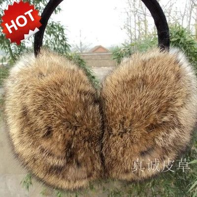 New arrival! 100% rabbite fur earmuffs korean style winter thermal ear cover for women men best quality multicolor